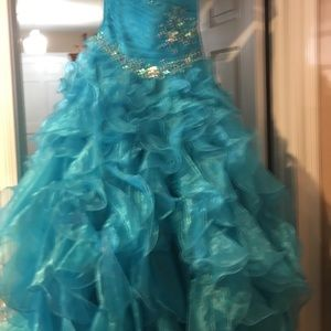 Other - Girls Pagent/Formal Turquoise Gown size 12